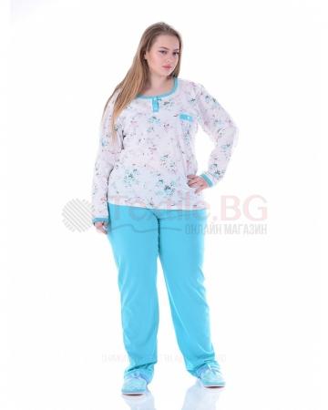 Дамска макси пижама дълъг ръкав две топли комбинации