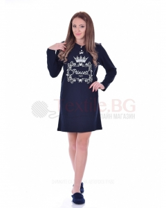 Памучен дамски блузон със ситопечат