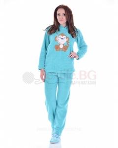 Mека и топла пижама от велсофт с апликация в три цвята