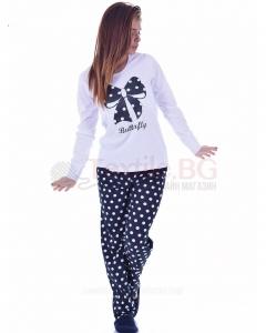 Памучна пижама в четири различни комбинации с красива пеперудена панделка