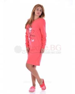 Памучен дамски блузон със ситoпечат