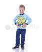 Детска памучна пижама момче със ситопечат в два цвята