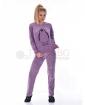 Удобна дамска пижама от плюш в три топли комбинации