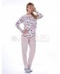 Елегантна дамска пижама в две комбинации с изящни цветчета